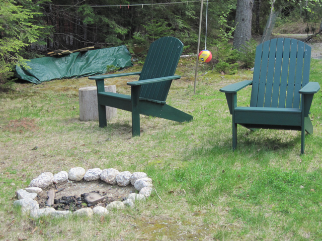 Camp Fire Ring And Chairs